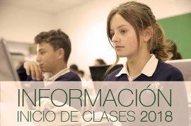 Inicio de clases 2018